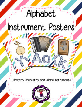 Musical Instrument Alphabet Posters