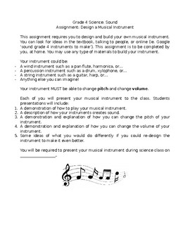 Musical Instrument Assignment