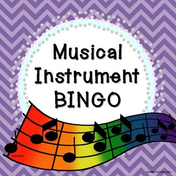 Musical Instrument BINGO! Game