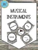 Musical Instrument Banner-Shiplap
