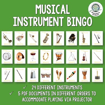 Musical Instrument Bingo ~ Quiet Review Game ~ Great During Testing!