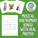 Silent Musical Instrument Bingo Game Distance Learning