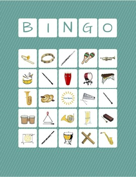 Musical Instrument Bingo {Woodwind, Brass, and Percussion}