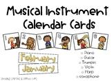 Musical Instrument Calendar Cards