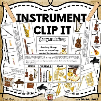 Musical Instrument Clip It Cards