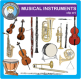 Musical Instrument Clipart in Color and B&W