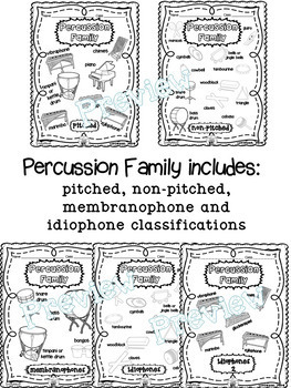Musical Instrument (Instrument Families) Coloring Pages