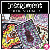 Music Coloring Pages: Musical Instruments - Families of th
