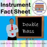 Musical Instrument Fact Sheet - Double Bass