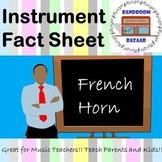 Musical Instrument Fact Sheet - French Horn
