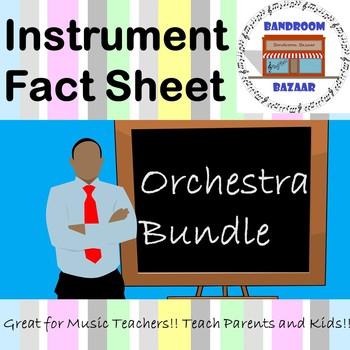 Musical Instrument Fact Sheet - Orchestra Bundle