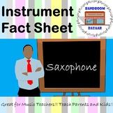 Musical Instrument Fact Sheet - Saxophone