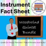 Musical Instrument Fact Sheet - Woodwind Quintet Bundle