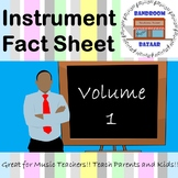 Musical Instrument Fact Sheets - Volume 1 Bundle