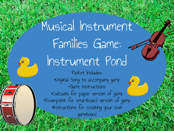 Musical Instrument Families Game: Instrument Pond