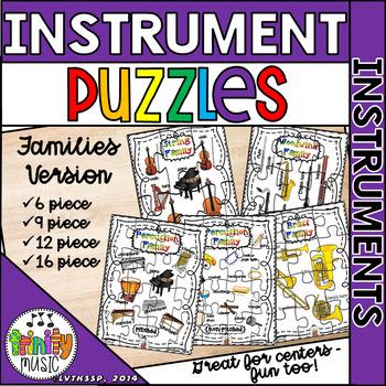 Musical Instrument Families Puzzle Set