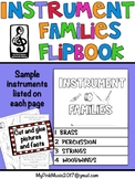 Musical Instrument Families: brass, percussion, string & woodwinds