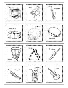 Musical Instrument Family Cards