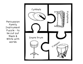 Musical Instrument Family Puzzle Sorting Game