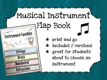 Musical Instrument Flap Book