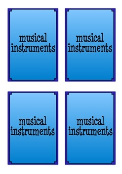 Musical Instrument Flash Cards