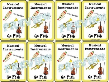 """Musical Instrument """"Go Fish"""" Game"""