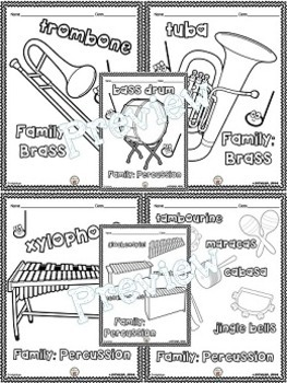 Musical Instrument (Individual Pictures) Coloring Pages