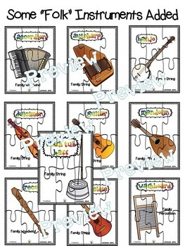 Musical Instrument (Individual Pictures) Puzzle Set