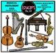 Musical Instrument Kids Clip Art Bundle {Educlips Clipart}