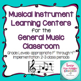 Musical Instrument Learning Centers - Orchestra Families