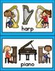 Musical Instrument Matching Cards & Literacy Activities / Montessori Style