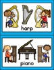 Musical Instrument Matching Cards & Literacy Activities /