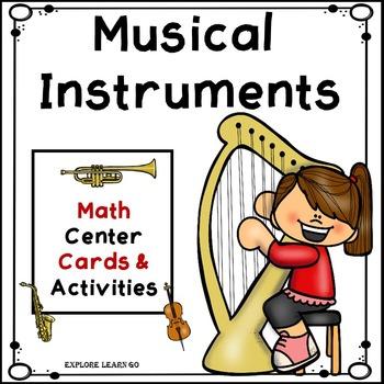 Musical Instrument Math Center Cards & Activities / Montes