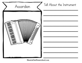 Musical Instrument Notebooking Pages