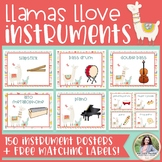 Musical Instrument Posters {150 Llama Decor Posters + FREE