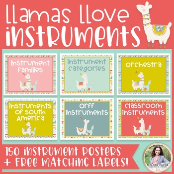 Musical Instrument Posters {150 Llama Decor Posters + FREE Labels!}