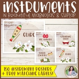 Musical Instrument Posters {150 Shiplap & Magnolia Decor Posters + FREE Labels!}