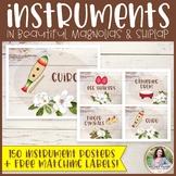 Musical Instrument Posters {150 Shiplap & Magnolia Decor P