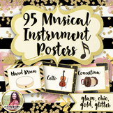 Musical Instrument Posters {95 Chic & Glam 8.5x11 Posters}