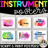 Musical Instrument Posters {104 Watercolor 8.5x11 Labels &