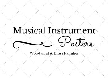 Musical Instrument Posters | Woodwind & Brass
