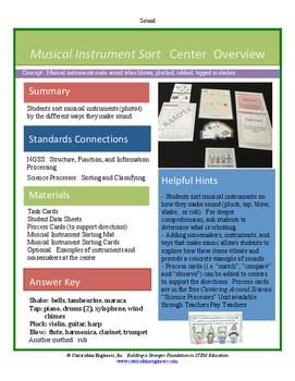 Musical Instrument Sort Science Center
