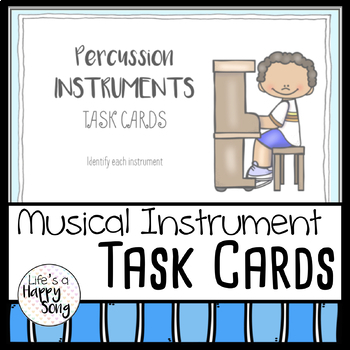 Musical Instrument Task Cards