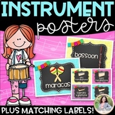 Musical Instrument Posters & Labels {Chalkboard & Vivid Glitter}