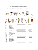 Musical Instrument Word Scramble