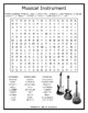 Musical Instrument Word Search Puzzle