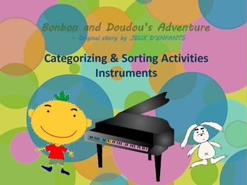 Musical Instrument sorting activities for Bonbon and Doudo