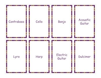 Musical Instruments Flashcards