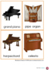 Musical Instruments Nomenclature Cards