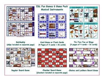 Musical Instruments 6 Board Game Bundle